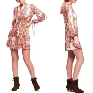 NWT Free People Mini Dress All Dolled Up High Neck